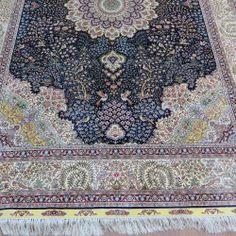 Rug No.650D 183x274cm Pure Silk Handmade Carpet \\ harry@camelcarpet.com\\ Cell : 0086 152 2512 2140 (WhatsApp & Viber)
