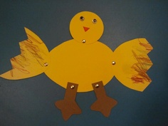 "Duckling craft: Use white paper? Make a more ""duck-like"" bill. Great fine motor to add spinners!"
