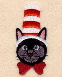 Cat in Hat - 4x4 | What's New | Machine Embroidery Designs | SWAKembroidery.com Starbird Stock Designs