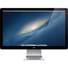 Apple Thunderbolt Display (27-inch). Also serves as docking station; make your laptop a desktop and integrate all your devices in one spot.