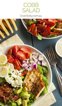 Cobb Salad Recipe - a filling, tasty salad full of yummy ingredients. The perfect lunch.