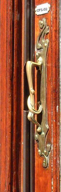 Art Nouveau door handle, The Hague, Netherlands