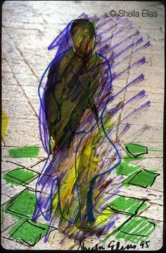 """Sketchbook III-26,"" Sketchbook Series, 2009 Sheila Elias - Contemporary Artist. All rights reserved ® 2014"