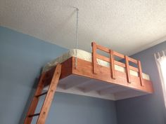 i built a suspended loft bed for my sonu0027s room