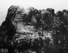 Mount Rushmore before it was carved with the President's faces in 1927