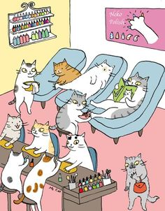 16 Comics That Show The Secret Daily Life Of Cats - Pets and Animals - Chat I Love Cats, Cute Cats, Funny Cats, Illustration Mignonne, Cute Illustration, Crazy Cat Lady, Crazy Cats, Kitten Baby, Cat Comics