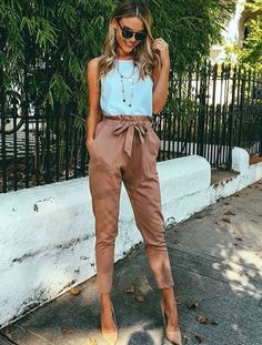 Chiffon high waist harem pants Women stringyselvedge summer style casual pants female 2016 New black trousers Plus size Spring Work Outfits, Fall Outfits, Cute Outfits, Fashion Outfits, Work Outfit Summer, Formal Outfits, Black Outfits, Fashionable Outfits, Fashion Weeks