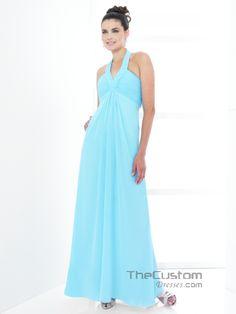 A-line Halter Ankle-length Chiffon Bridesmaid Dresses 999BD0006