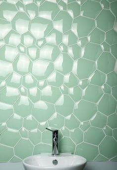 Watercube Mosaics available in six colours as seen on Grand Designs