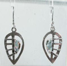 """Roman glass #""""roman glass"""" leaves #earrings #bluenoemi 77 USD http://www.bluenoemi-jewelry.com/roman-glass-silver-leaves-earrings.html"""