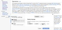 Wikipedia page w entry in Wikidata uses language links stored there 2 populate language links shown in left column