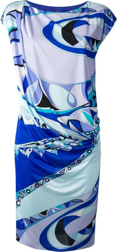 Emilio Pucci Dress Cap Slv Po Front Drape dress from Emilio Pucci