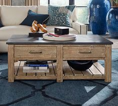 Parker Reclaimed Wood Coffee Table | Pottery Barn