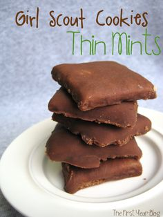 Homemade Thin Mints on MyRecipeMagic.com #thinmints #girlscoutcookies #recipe