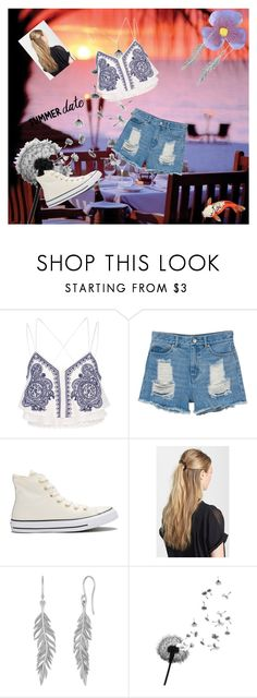 """An Evening Summer Date"" by benjiedaisy on Polyvore featuring River Island, Monki, Converse, France Luxe, Silken Favours and DateNight"