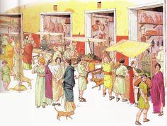 Roman market scene