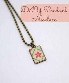 DIY Necklace  : Easy DIY Pendant Necklace (