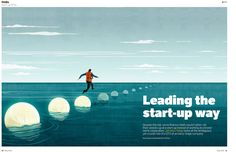 Hong Kong Aplus Magazine - Leading the start-up way © Benedetto Cristofani, all right reserved #illustration #editorial #editorialillustration #conceptual #financialillustration #startup #conceptualillustration #graphic #graphicdesign www.benedettocristofani.net