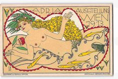 ST2201:  RARE GORGEOUS BERTOLD LÖFFLER/LÖ MERMAID FANTASY 1913 POSTCARD #A 22 | Collectibles, Postcards, Other Collectible Postcards | eBay! Fantasy, Vintage Posters, Mermaid, Creatures, Ebay, Drawings, Prints, Fictional Characters, Postcards