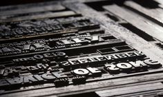 New print ... letters in a compositor's tray ready for locking into the press.  Photograph: Alan Mather/Alamy