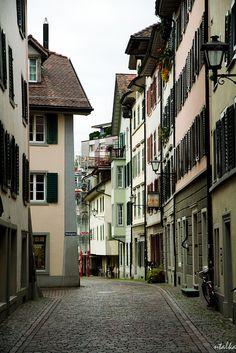 Rapperswil, Zurich, Switzerland Beaux Villages, Belle Villa, Old Town, Switzerland, Opera House, To Go, Cottage, Bricks, World