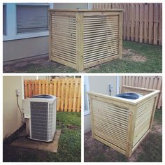 Hey y'all,We are pretty excited to bring you our latest build. In our back yard we have an old ugly ac unit. It's an eye sore like most people's AC units!So we decided to hide it with these easy DIY AC shroud. Ac Unit Cover, Ac Cover, Air Conditioner Cover Outdoor, Air Conditioner Screen, Coffee Table Hacks, Diy Ac, Pottery Barn Mirror, Pool Shed, How To Clean Copper