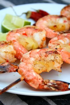 Chili Lime Pineapple Shrimp