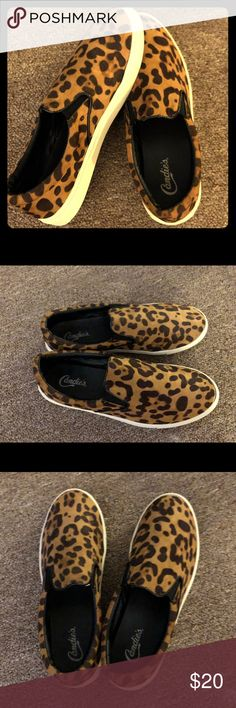 Really cute Candies Leopard shoes. 9.5 Cute & trendy leopard print slip on shoes. Very comfortable. Perfect for summer. Candie's Shoes Sneakers