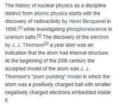 Here's an actual screenshot of a very famous Wikipedia article on Nuclear Physics. If you were to copy this article for say a homework assignment you'd spend an immeasurable amount of time finding and removing the footnotes hyperlinks (the blue stuff) references bibliographies and... I could go on forever but long story short - a lot of other unnecessary stuff.  I created a website called Gwiki to solve this problem. Give it a Wikipedia link and it removes everything you don't need leaving…