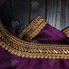 Pattu Saree Blouse Designs, Blouse Designs Silk, Designer Blouse Patterns, Bridal Blouse Designs, Hand Work Blouse Design, Simple Blouse Designs, Hand Embroidery Design Patterns, Flower Embroidery Designs, Maggam Works