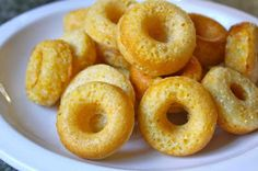 Cornbread Donuts Tried them! they were a hit! Made the family smile. Used Jiffy Mix.