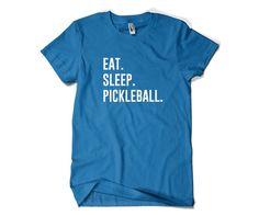 Pickleball Shirt-Eat Sleep Pickleball T Shirt by SuperCoolTShirts