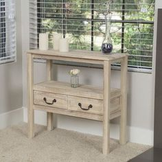 Home Loft Concepts Grant Acacia Console Table Finish: Brushed Morning Mist