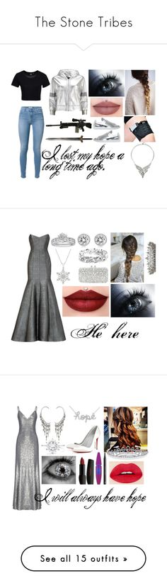 """""""The Stone Tribes"""" by heartless-knight on Polyvore featuring RIFLE, Dr. Denim, Norma Kamali, adidas, Atelier Swarovski, ML Monique Lhuillier, Tiffany & Co., Michael Kors, Natasha Couture and Fame & Partners"""