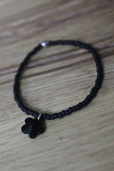 Trendy black bracelet