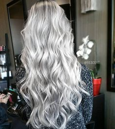 """PLATINUM ICE ☄ by @bescene // #APassionForColor"""
