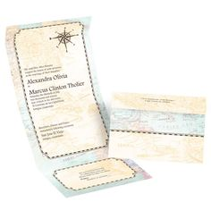 Seal and sends from Invitations by Dawn are an affordable and stylish wedding invitation option. Check out this antique map design.