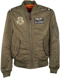 Ralph Lauren Military Patch Bomber Jacket Cazadoras 2e310f583960