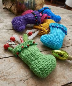 Jingle Bell Stockings Crochet Pattern | Red Heart-beginner