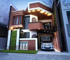 There are many modern residential house design ideas that we can discuss. Here we have outlined some key examples of modern residential house design ideas Bungalow House Design, House Front Design, Small House Design, Modern House Design, Duplex House, Contemporary House Plans, Modern House Plans, Vertikal Garden, Double Story House