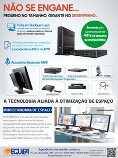 Criação de panfleto para divulgação de lançamento do novo Minic PC HP - HP EliteDesk 705 G1 DM