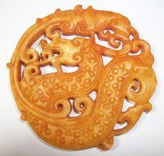 A Carved Archaic Yellow ( Royal ) Jade Grain Totem Emperor's Extremely Good Auspices Presented by Dragon and Phoenix Pendant 475 B.C. - 221 B.C. Eastern Zhou Dynasty Warring Times China     H 7.5 x W 7.3 x Depth 0.7 cm 54 g     西元前475年至西元前221年中國東周戰國時期古黃 (皇) 玉透空鏤雕帝王用穀紋龍鳳呈祥珮     http://orionwebmuseum.blogspot.com   http://taiwanwebmuseum.blogspot.com   http://orionandhsu.blogspot.com   http://art-3000.com/artist/orionandhsu/