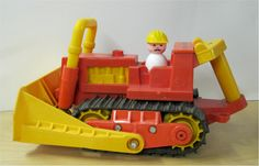little people bulldozer Jouets Fisher Price, Fisher Price Toys, Vintage Fisher Price, 1970s Toys, Retro Toys, Vintage Toys, Best 90s Cartoons, Childhood Toys, Childhood Memories