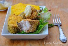 Pește prăjit în crustă de mălai, cu mujdei și mămăligă Food, Essen, Meals, Yemek, Eten