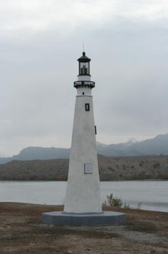Replica of Wind Point at Lake Havasu, AZ  Visit one of the lighthouses in Lake Havasu City.