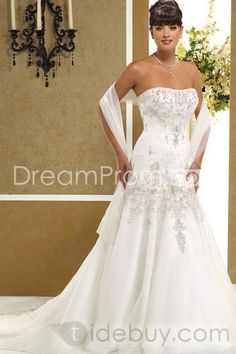 Amazing A-Line/Princess Sweetheart Floor-length Chapel Embroidery Wedding Dresses