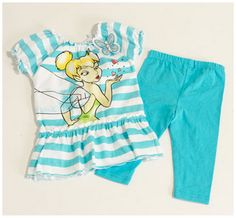Toddler Girl Tinkerbell Legging Set 2T, OCEAN WIND  http://blog.ilovebabyclothes.com/wp/searching-on-the-internet-for-cute-baby-clothes-for-girls/