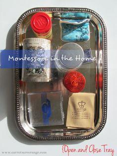 Montessori in the Home – Open and Close Tray