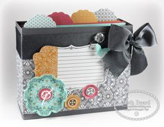 Stampin' Up! Tutorial  by Beth Beard at My little craft blog: How To Make A Note Box