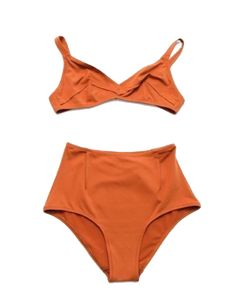 c0b2898d81 Laura Urbinati Pinces Bikini-Tobacco - oh yes. Vintage High Waisted  BikiniBikini RetroBikini VintageVintage Bathing SuitsBathing ...